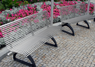 Stainless Steel Bench The Woodlands, TX